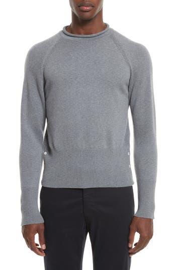 Thom Browne Raglan Merino Wool Sweater, Grey