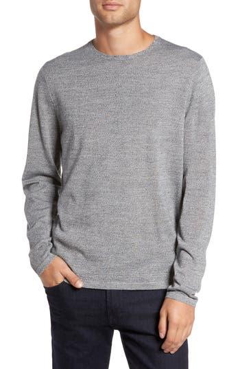 Calibrate Merino Blend Crewneck Sweater, Grey