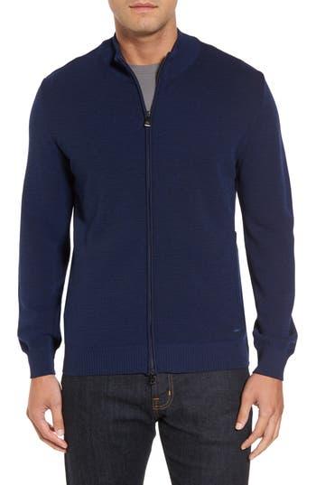 Paul & Shark Pique Zip Wool Sweater, Blue