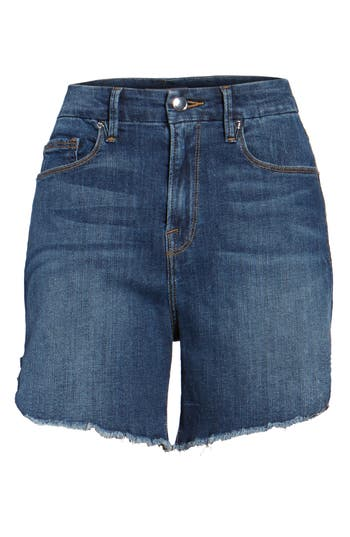 High Rise Cutoff Denim Shorts