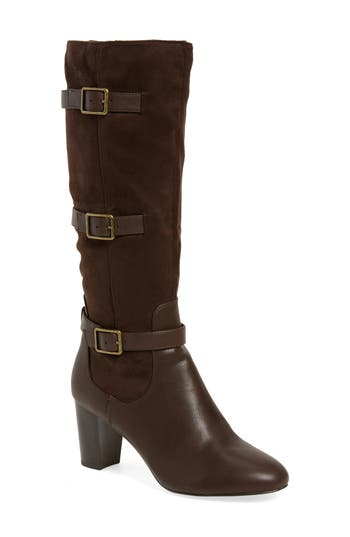 Bella Vita Talina Ii Belted Knee High Boot, Regular Calf N - Brown