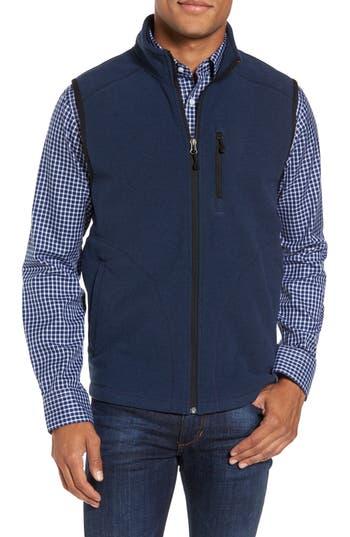 Men's Nordstrom Men's Shop Polar Fleece Vest, Size Small - Blue