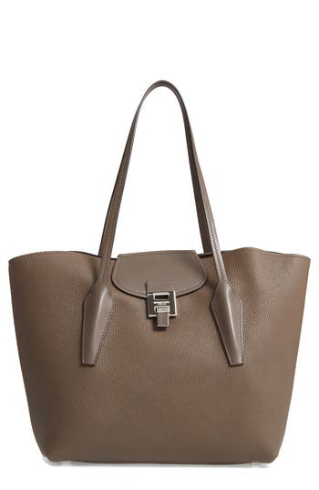 Michael Kors Large Bancroft Leather Tote - Grey