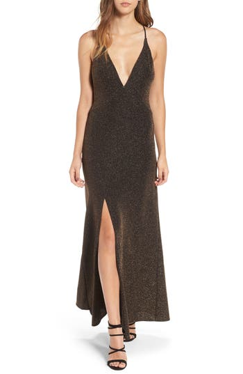 Leith Sparkle Maxi Dress, Metallic