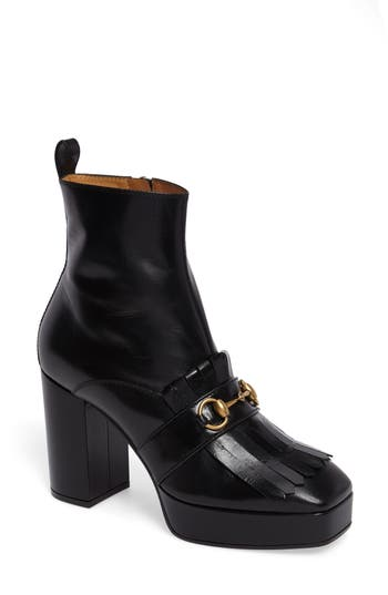 Women's Gucci Novel Square Toe Platform Bootie at NORDSTROM.com