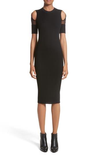 Alexander Wang Knit Cold Shoulder Dress, Black