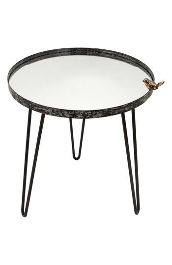 Foreside Bird Mirror Side Table, Size One Size - Black