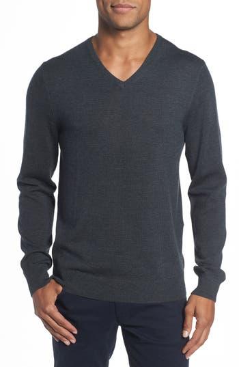 Bonobos Merino V-Neck Sweater, Grey
