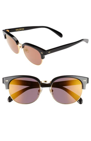Wildfox Clubhouse 50Mm Semi-Rimless Sunglasses - Black/ Gold