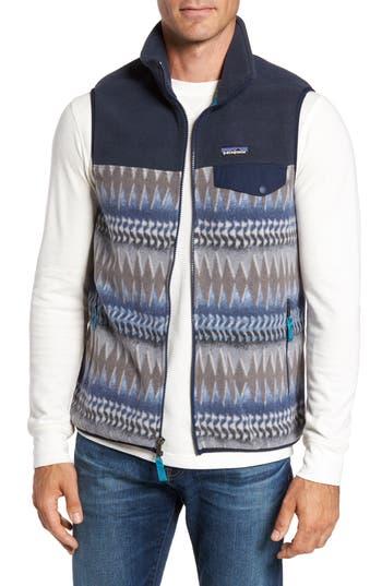 Men's Patagonia 'Synchilla Snap-T' Zip Fleece Vest, Size Small - Blue
