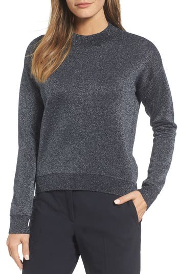 Boss Funday Metallic Wool Blend Sweater, Blue