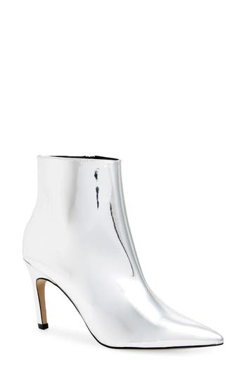 Topshop Hot Toddy Pointy Toe Boot - Metallic