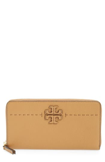 Women's Tory Burch Mcgraw Leather Continental Zip Wallet -