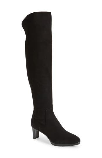 Aquatalia Danika Weatherproof Over-The-Knee Boot- Black