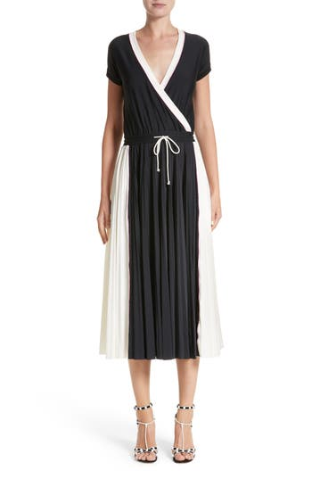 Women's Valentino Sport Jersey Midi Dress, Size X-Small - Black