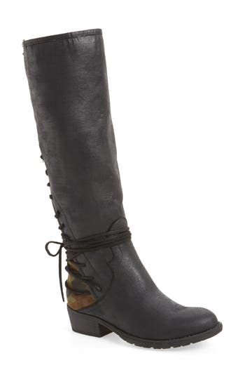 Very Volatile Marcel Corseted Knee High Boot, Black