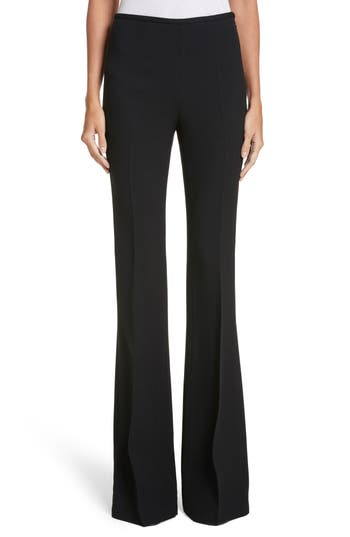 Michael Kors Crepe Sable Flare Pants, Black