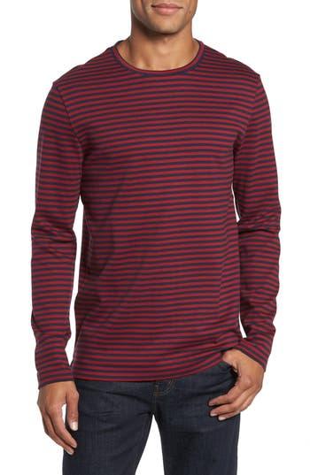 Boss Stripe Long Sleeve T-Shirt, Red