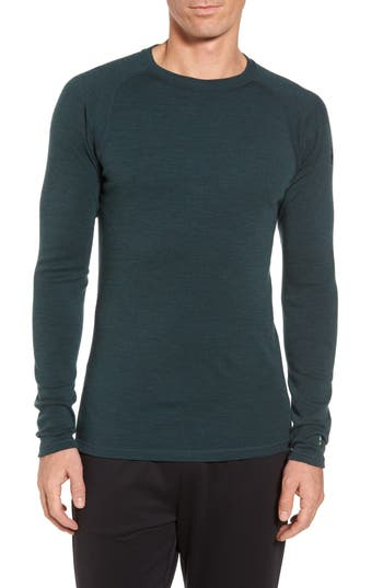 Smartwool Merino 250 Base Layer Crewneck T-Shirt, Green