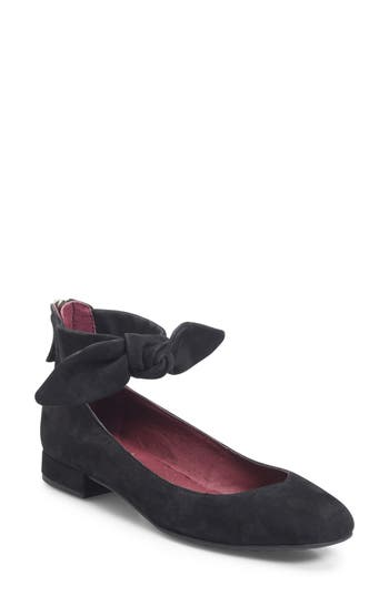 Women's Ono Hosta Ankle Bow Flat, Size 6 M - Black
