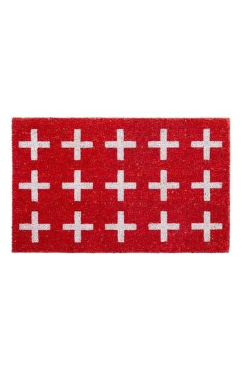 Bovi Switzerland Door Mat, Size One Size - Red