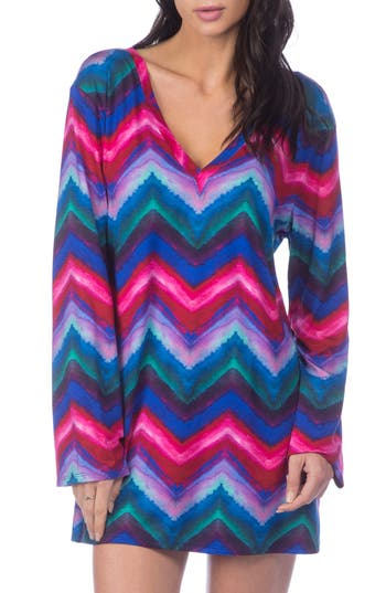 La Blanca Hidden Gem Cover-Up Tunic, Blue