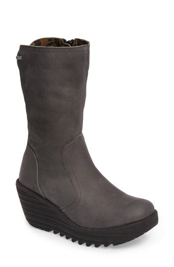 Fly London Yups Waterproof Gore-Tex Wedge Boot, Grey