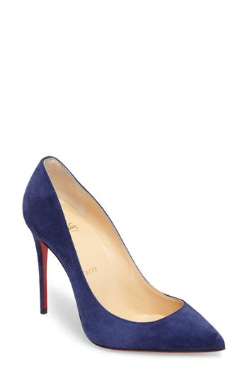 Christian Louboutin Pigalle Follies Pointy Toe Pump - Blue