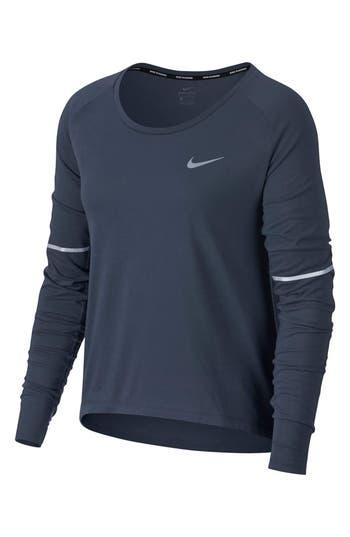 Nike Breathe Running Top, Blue