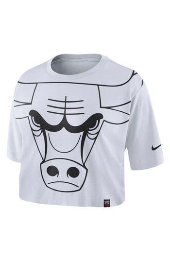 Nike Chicago Bulls Nba Crop Top, White