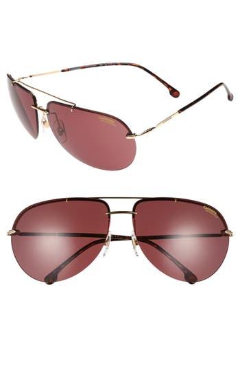 Carrera Eyewear 149S 65Mm Polarized Aviator Sunglasses - Gold/ Burgundy Polarized