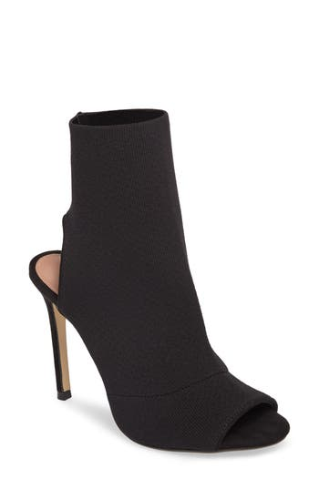 Topshop Madame Sock Shoe Bootie - Black