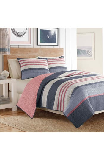 Nautica Angler Quilt, Size Twin - Blue
