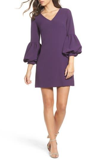 Chelsea28 Bell Sleeve Shift Dress, Purple