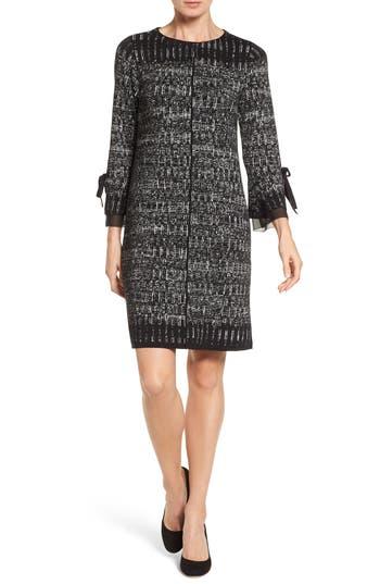 Nic+Zoe Ruffle Cuff Sweater Dress, Grey