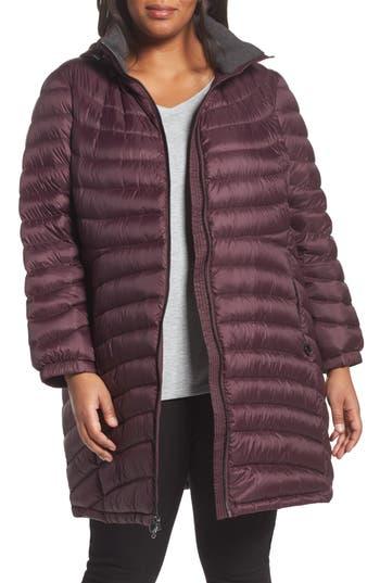Plus Size Michael Michael Kors Packable Down Coat, Purple