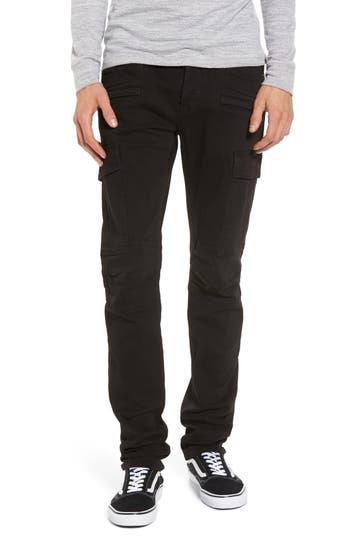 Hudson Jeans Greyson Cargo Biker Skinny Fit Jeans, Black