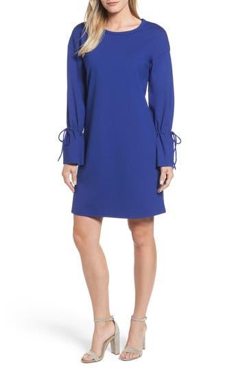 Halogen Cinch Cuff Shift Dress, Blue