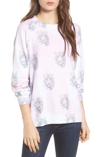 Women's Wildfox Bengals - Sommers Sweatshirt, Size X-Small - Pink