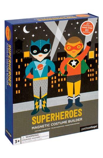 Toddler Boy's Petit Collage 31-Piece Superheroes Magnetic Costume Builder Set