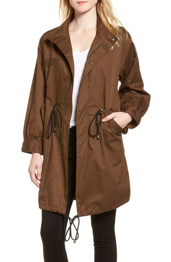 Women's Mural Oversize Military Coat, Size X-Small - Green