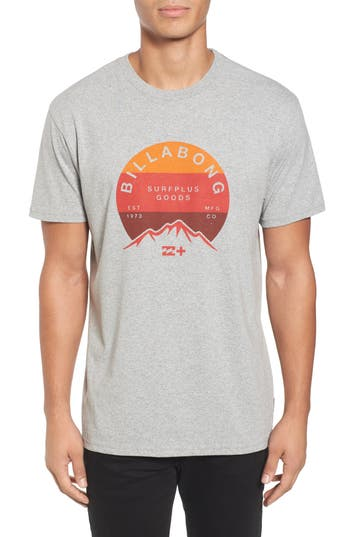 Billabong Ridge Logo Graphic T-Shirt, Grey