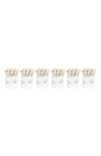 Zodax Lia Coral Set Of 6 Napkin Rings