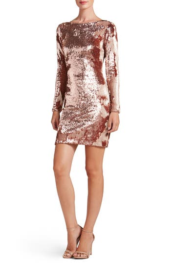 Dress The Population Lola Ombre Sequin Body-Con Dress, Pink