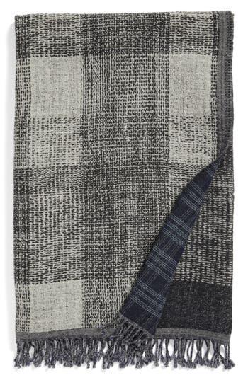 Modern Staples Deskloom Double Face Merino Wool Throw, Size One Size - Black