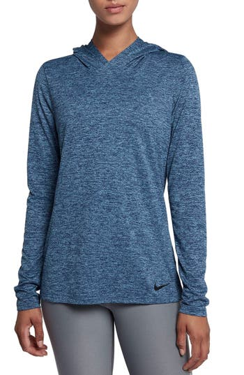 Nike Dry Legend Hooded Training Top, Blue