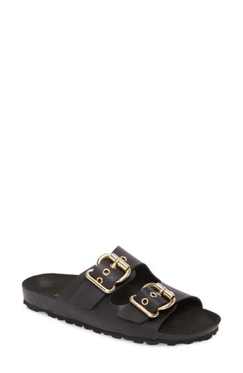 Topshop Finch Buckle Slide - Black