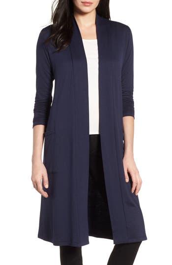 Women's Bobeau Elegant Fleece Cardigan, Size XX-Small - Blue
