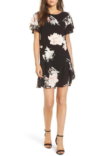 Leith Ruffle Minidress, Black