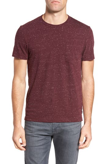 French Connection Granite Grindle Slim Fit T-Shirt, Burgundy